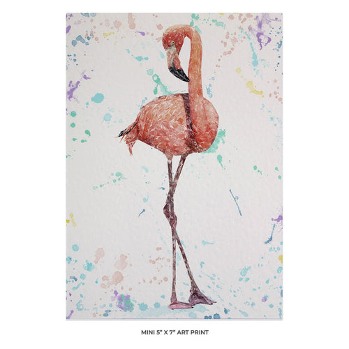 """The Colourful Flamingo"" 5x7 Mini Print"