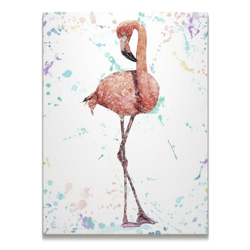 """The Colourful Flamingo"" Skinny Canvas Print"