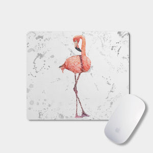 """The Flamingo Grey Background"" Mousemat - Andy Thomas Artworks"