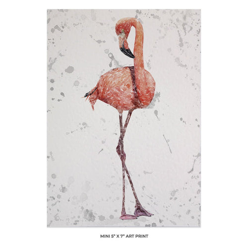 """The Flamingo Grey Background"" 5x7 Mini Print"
