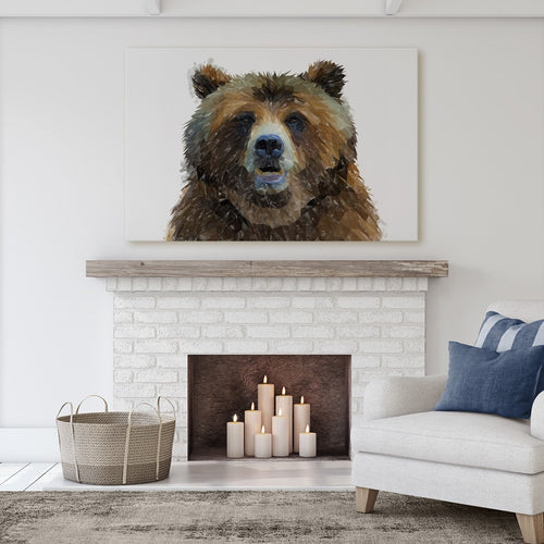 """Monty"" The Brown Bear Massive Canvas Print"