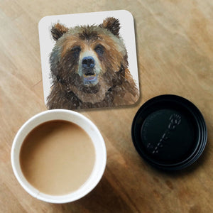 """Monty"" The Brown Bear Coaster - Andy Thomas Artworks"