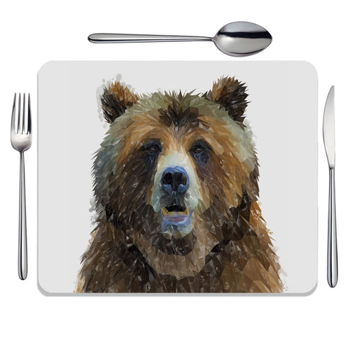 """Monty"" The Brown Bear Placemat"