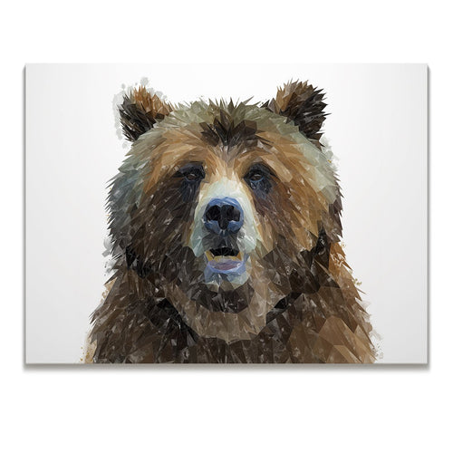 """Monty"" The Brown Bear Skinny Canvas Print"