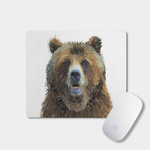 """Monty"" The Brown Bear Mousemat - Andy Thomas Artworks"