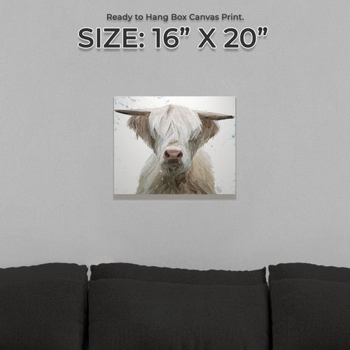 """Evan"" The Highland Bull Small Canvas Print"