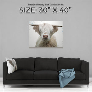 """Evan"" The Highland Bull Large Canvas Print - Andy Thomas Artworks"