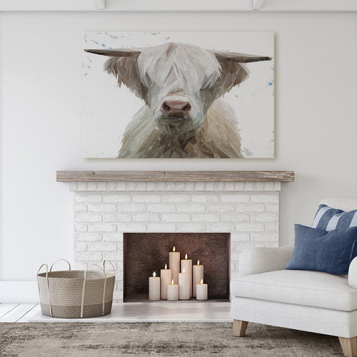 """Evan"" The Highland Bull Massive Canvas Print"