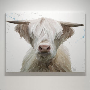 """Evan"" The Highland Bull Small Canvas Print - Andy Thomas Artworks"