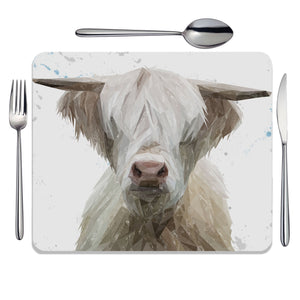 """Evan"" The Highland Bull Placemat - Andy Thomas Artworks"