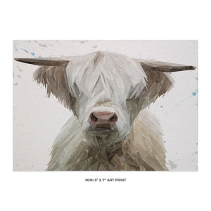 """Evan"" The Highland Bull 5x7 Mini Print - Andy Thomas Artworks"