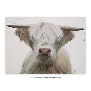 """Evan"" The Highland Bull A3 Unframed Art Print - Andy Thomas Artworks"