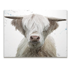 """Evan"" The Highland Bull Skinny Canvas Print - Andy Thomas Artworks"