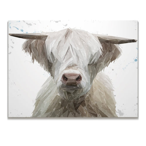 """Evan"" The Highland Bull Skinny Canvas Print"