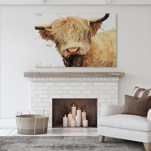 """Brenda"" The Highland Cow Massive Canvas Print - Andy Thomas Artworks"