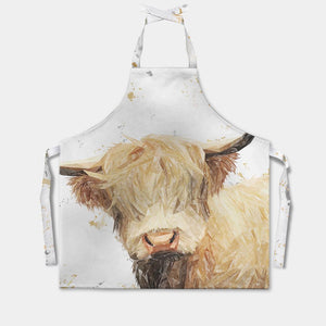 """Brenda"" The Highland Cow Apron - Andy Thomas Artworks"