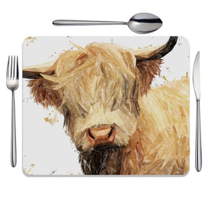 """Brenda"" The Highland Cow Placemat - Andy Thomas Artworks"