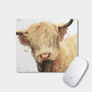"""Brenda"" The Highland Cow Mousemat - Andy Thomas Artworks"