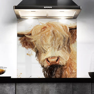 """Brenda"" The Highland Cow Kitchen Splashback"