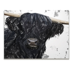 """Fergus"" The Highland Bull Skinny Canvas Print - Andy Thomas Artworks"