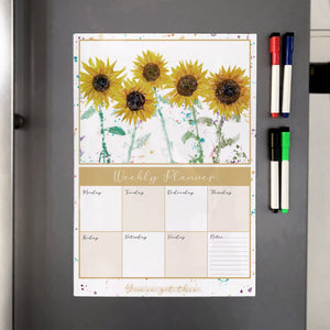 The Sunflowers A3 Magnetic weekly planner