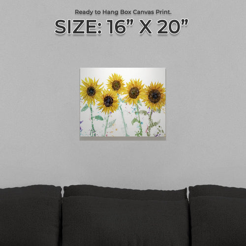 """The Sunflowers"" Small Canvas Print"