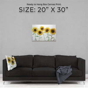 """The Sunflowers"" Medium Canvas Print - Andy Thomas Artworks"