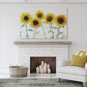 """The Sunflowers"" Massive Canvas Print - Andy Thomas Artworks"
