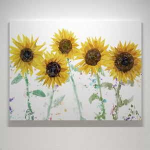 """The Sunflowers"" Small Canvas Print - Andy Thomas Artworks"