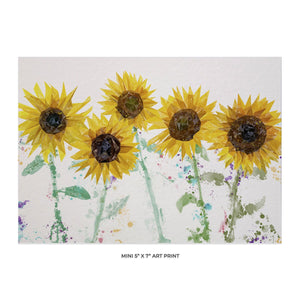 """The Sunflowers"" 5x7 Mini Print - Andy Thomas Artworks"