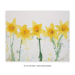"""The Daffodils"" 10"" x 8"" Unframed Art Print - Andy Thomas Artworks"