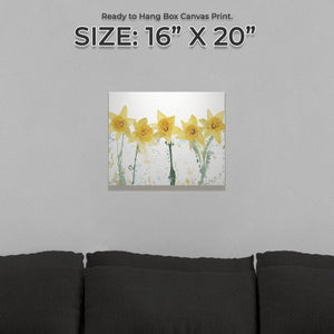 """The Daffodils"" Small Canvas Print - Andy Thomas Artworks"