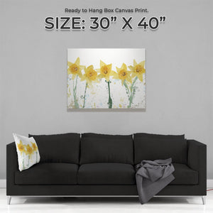 """The Daffodils"" Large Canvas Print - Andy Thomas Artworks"