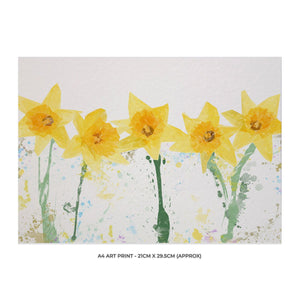 """The Daffodils"" A4 Unframed Art Print - Andy Thomas Artworks"