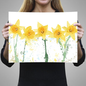 """The Daffodils"" A3 Unframed Art Print - Andy Thomas Artworks"