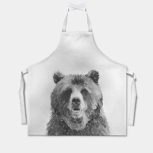 """Monty"" The Brown Bear (B&W) Apron"