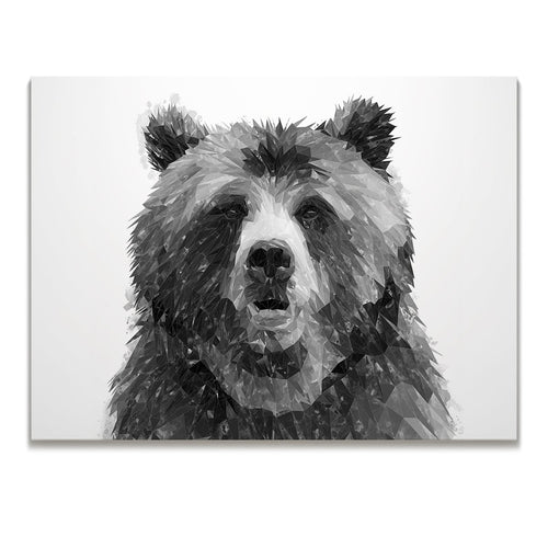 """Monty"" The Brown Bear (B&W) Skinny Canvas Print"