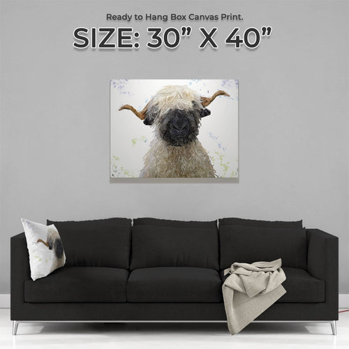 """Betty"" The Valais Blacknose Sheep Canvas Print"