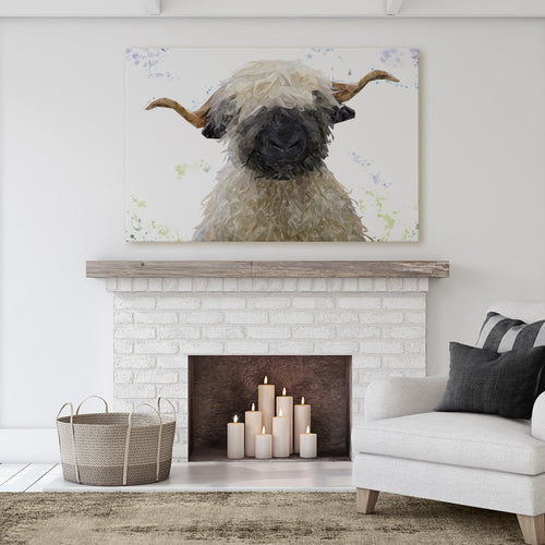 """Betty"" The Valais Blacknose Sheep Massive Canvas Print"