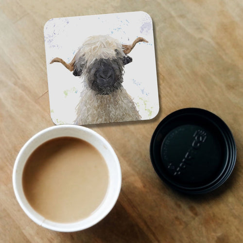 """Betty"" The Valais Blacknose Sheep Coaster"