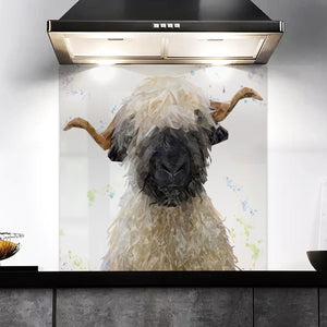 """Betty"" The Valais Blacknose Sheep Kitchen Splashback"