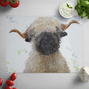 """Betty"" The Valais Blacknose Sheep Glass Worktop Saver"