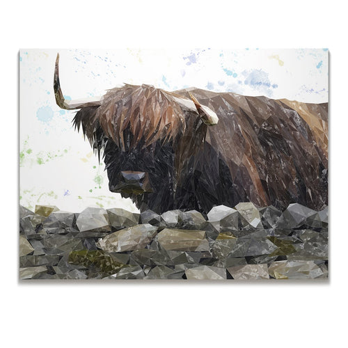 """Freya"" The Highland Cow from Applecross Skinny Canvas Print"