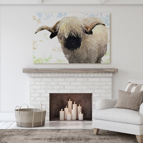 """Bertie"" The Valais Ram Massive Canvas Print"