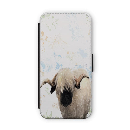 """Bertie"" The Valais Ram Flip Phone Case"