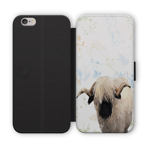 """Bertie"" The Valais Ram Flip Phone Case - Andy Thomas Artworks"