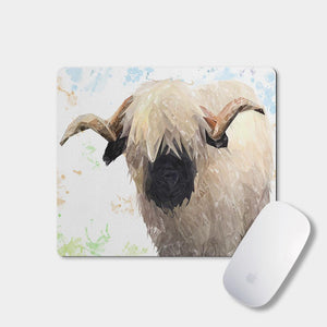 """Bertie"" The Valais Ram Mousemat - Andy Thomas Artworks"