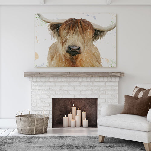 """Bernadette"" The Highland Cow Massive Canvas Print"