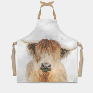 """Bernadette"" The Highland Cow Apron - Andy Thomas Artworks"