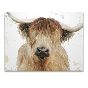 """Bernadette"" The Highland Cow Skinny Canvas Print - Andy Thomas Artworks"